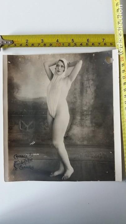 FOTO ERÓTICA PUBLICIDAD CIGARROS TRINIDAD Y HNO EXQUISITOS (Coleccionismo para Adultos - Postales Temáticas - Eróticas y Pin Ups)
