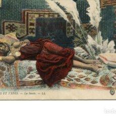 Postales: DESNUDO ÉTNICO-JOVEN ARABE-LA SIESTA- AÑO 1916. Lote 247322490