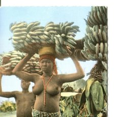 Postales: DESNUDO JOVEN AFRICANA PORTADORA DE PLATANOS- COSTA D'IVORI-FOTOGRÁFICA. Lote 247568880