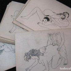 Cartes Postales: POSTURAS SEXUALES-COLECCION DE 16 LAMINAS CROMOS SEXO EROTICOS-VER FOTOS-(81.671). Lote 269310693