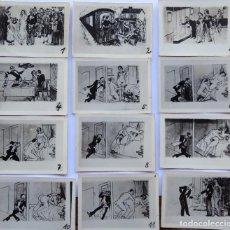 Postales: F-5104. COLECCION DE 12 FOTOGRAFIAS DE DIBUJOS EROTICOS NOCHE DE BODAS. AÑOS 30. TAMAÑO 6 X 8,5. Lote 271092023