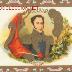 Cajas de Puros: BONITA Y RARA CAJA DE PUROS BOLIVAR. Lote 25272973