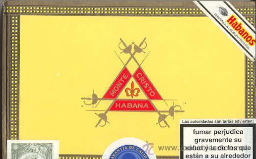 CAJA DE PUROS HABANOS - MONTECRISTO - HABANA (Coleccionismo - Objetos para Fumar - Cajas de Puros)