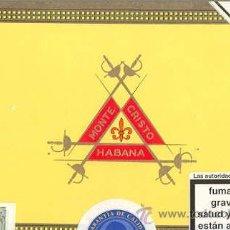 Cajas de Puros: CAJA DE PUROS HABANOS - MONTECRISTO - HABANA. Lote 25464560