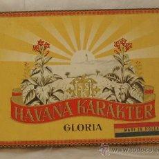 Cajas de Puros: CAJA VACIA DE PUROS GLORIA DE HAVANA KARAKTER. DIMENSIONES 18 X 12 X 2 CM. Lote 21932708