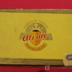 Cajas de Puros: CAJA VACIA DE CIGARROS PUROS ALVARO. DIMENSIONES 20,5 X 13,5 X 3,5 CM. Lote 11073037