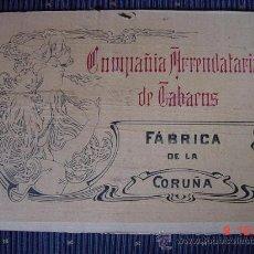 Cajas de Puros: 1338 LA CORUÑA GALICIA COMPAÑIA ARRENDATARIA DE TABACOS TAPA CAJA PUROS AÑOS 1900 . Lote 24057328