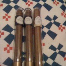 Cajas de Puros: 3 PUROS DE BODAS. 2 MONTEALBAR + 1 LA FLOR DEL LOS CARIBES. EN ESTUCHES INDIVIDUALES.. Lote 25110730