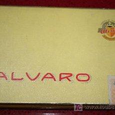 Cajas de Puros: ANTIGUA CAJA DE PUROS ALVARO - CONTIENE 9 PUROS. Lote 26116887