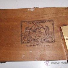 Cajas de Puros: EL GUAJIRO DE B. PEREZ MENDEZ. Lote 26867135