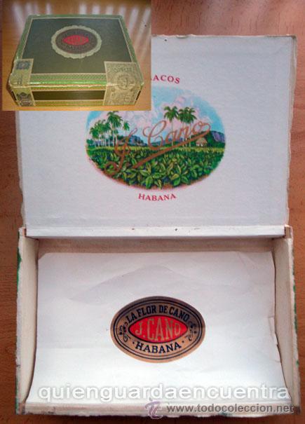 CAJA VACÍA DE PURITOS LA FLOR DE CANO PETIT-CORONAS CUBA (Coleccionismo - Objetos para Fumar - Cajas de Puros)
