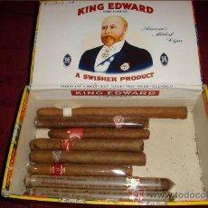 Cajas de Puros: CAJA DE CIGARROS PUROS DE KING EDWAR CON 8 PURITOS DISTINTOS NO APTOS PARA FUMAR, COLECCIONISMO.. Lote 27385008