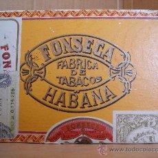 Cajas de Puros: ANTIGUA CAJA DE PUROS - FONSECA FABRICA DE TABACOS HABANA - LEY DE TABACO 1912 - VACIA. Lote 31961753