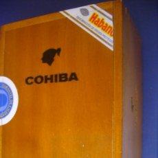 Cajas de Puros: CAJA PUROS MADERA COHIBA HABANA CUBA GRABADA HABANOS HECHO EN CUBA A MANO 16X13X9,5 CM. Lote 33052439