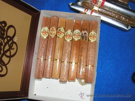 Cajas de Puros: CAJA ANTIGUA DE PUROS FARIAS Nº 1 RELLENA DE 14 PUROS VARIADOS CON SUS VITOLAS - Foto 7 - 35472995