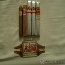 Cajas de Puros: 5 PUROS PROCEDENTES DE BODAS, BAUTIZOS...MÁS VITOLA GRAN FORMATO.. Lote 36464451