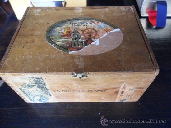 Cajas de Puros: CAJA DE PUROS RUMBO DE MADERA 50 CORONAS - Foto 2 - 36634734