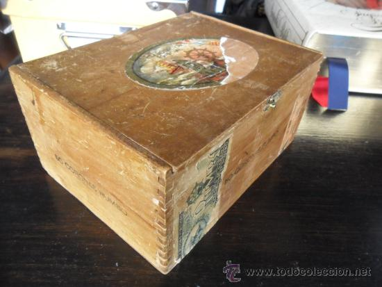 Cajas de Puros: CAJA DE PUROS RUMBO DE MADERA 50 CORONAS - Foto 3 - 36634734