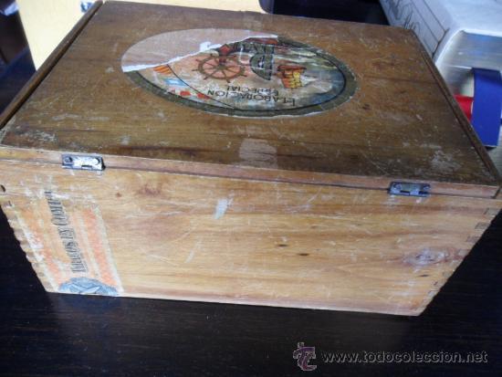 Cajas de Puros: CAJA DE PUROS RUMBO DE MADERA 50 CORONAS - Foto 5 - 36634734