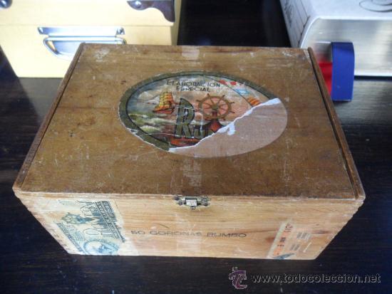 Cajas de Puros: CAJA DE PUROS RUMBO DE MADERA 50 CORONAS - Foto 6 - 36634734