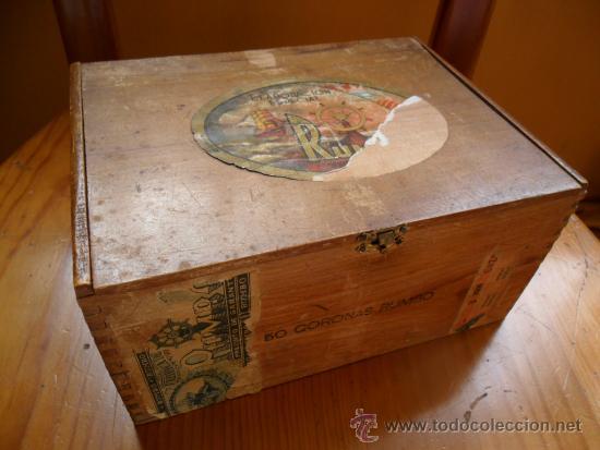 CAJA DE PUROS RUMBO DE MADERA 50 CORONAS (Coleccionismo - Objetos para Fumar - Cajas de Puros)