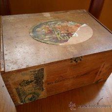 Cajas de Puros: CAJA DE PUROS RUMBO DE MADERA 50 CORONAS. Lote 36634734