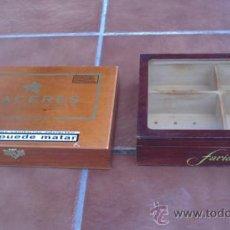 Cajas de Puros: DOS CAJAS DE PUROS EN MADERA:PLACERES,ENTREFINOS. Lote 36765245