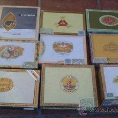 Cajas de Puros: ANTIGUA COLECCION DE OCHO CAJAS DE PUROS VISTAS INTERIORES SELLOS ETIQUETAS. Lote 37043967