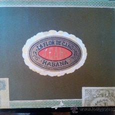 Cajas de Puros: CAJA DE PUROS MADERA HABANOS LA FLOR DE CANO HABANA 25 SELECTOS HECHO EN CUBA. Lote 38061935