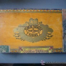 Cajas de Puros: CAJA MADERA PUROS HABANOS FLOR DE TABACOS PARTAGAS Y Cª HABANA CUBA PRE REVOLUCION HAVANA. Lote 38618065