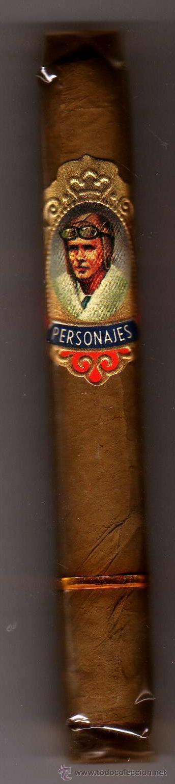 CIGARRO PURO PERSONAJES LINBERGH PRECINTADO CON VITOLA (Coleccionismo - Objetos para Fumar - Cajas de Puros)