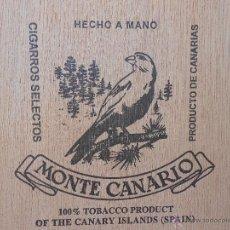 Cajas de Puros: CAJA DE PUROS MONTE CANARIO 10 NUNCIOS. Lote 39475551