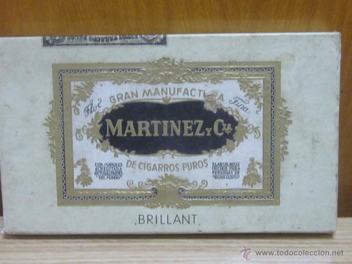 ANTIGUA CAJA VACIA DE PUROS, MARTINEZ Y CIA. (Coleccionismo - Objetos para Fumar - Cajas de Puros)