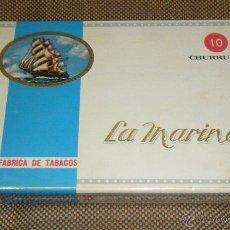 Cajas de Puros: ANTIGUA CAJA DE PUROS LA MARINA. ISLAS CANARIAS. CERRADA. . VER FOTOS. Lote 39949955