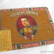 Cajas de Puros: TAPA DE CAJA DE PUROS O CIGARRILLOS. STUDENT PRINCE. . Lote 40426386