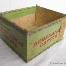 Cajas de Puros: CAJA DE PUROS. SOBERANOS CAPOTE. SIN TAPA.. Lote 40426502