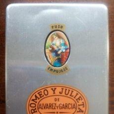 Cajas de Puros: CAJA DE METAL / PURERA / ORIGINAL PUROS ROMEO Y JULIETA DE ÁLVAREZ Y GARCÍA. HABANA.. Lote 41754861