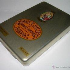 Cajas de Puros: ANTIGUA CAJA DE PUROS DE ALUMINO....ROMEO Y JULIETA...HABANA...PERFECTO ESTADO COMO NUEVA.. Lote 42407430