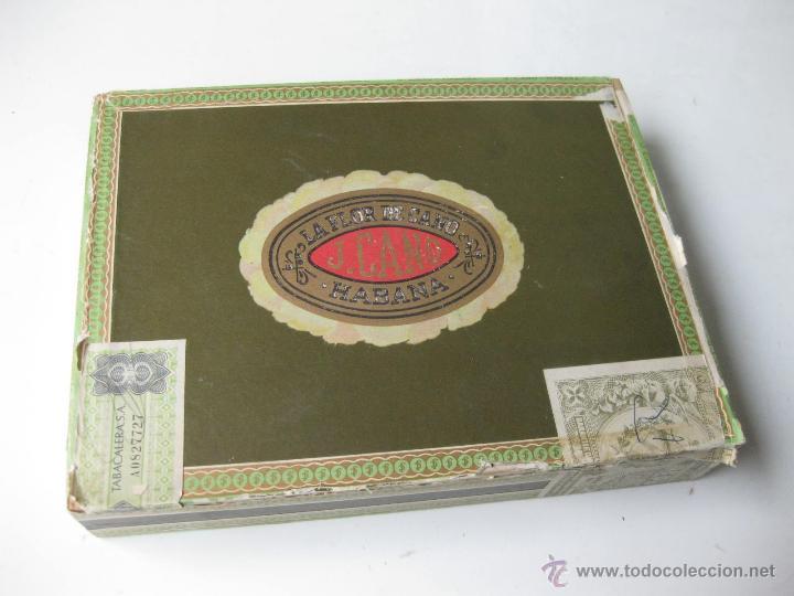 CAJA DE PUROS DE LA FLOR DE CANO - HABANA - CUBA (Coleccionismo - Objetos para Fumar - Cajas de Puros)