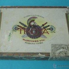Cajas de Puros: CAJA VACÍA DE PUROS HABANOS TROYA. MARTÍNEZ Y CA. MEDIDAS 20 X 15 X 4 CM. Lote 42701026