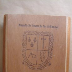 Cajas de Puros: ANTIGUA CAJA DE PUROS MADERA - COMPAÑIA DE TABACOS DE LAS ANTILLAS S.A. - 25 1866 - TABACO. Lote 42703651