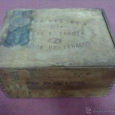 Cajas de Puros: CAJA PUROS MADERA CRUZ DEL MAR CAPOTE. Lote 42935907