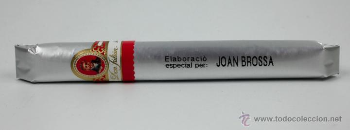 POEMA VISUAL - PURO. JOAN BROSSA, 1990'S. PRECINTADO (Coleccionismo - Objetos para Fumar - Cajas de Puros)