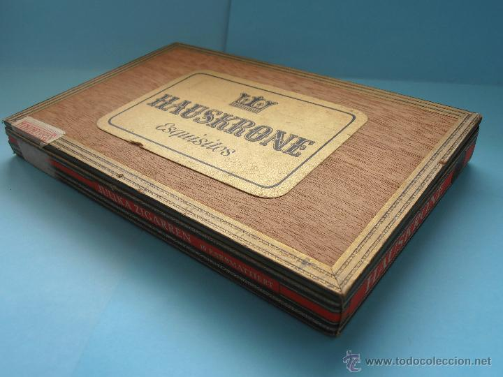 Cajas de Puros: Caja puros Hauskrone Julika Zigarren. Alemania. ¡Rara!. Vacía. Años 60`s #FV-R - Foto 2 - 43690602