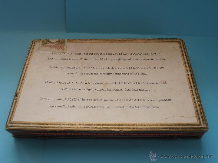 Cajas de Puros: Caja puros Hauskrone Julika Zigarren. Alemania. ¡Rara!. Vacía. Años 60`s #FV-R - Foto 8 - 43690602
