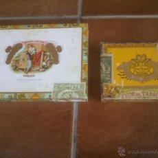 Cajas de Puros: ANTIGUAS CAJAS DE PUROS VISTAS INTERIORES SELLOS ETIQUETAS. Lote 43724314