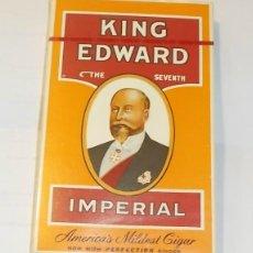 Cajas de Puros: CAJA DE TABACO. PUROS. KING EDWARD. THE SEVENTH. IMPERIAL. NUEVO. SIN ABRIR. Lote 43860754