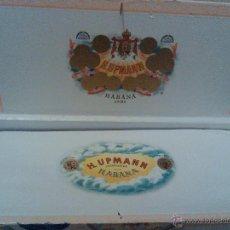 Cajas de Puros: CAJA DE PUROS HABANOS HUPMANN HABANA CUBA . Lote 43887611