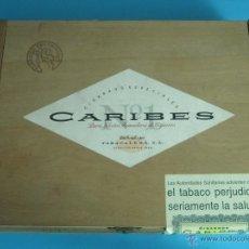Cajas de Puros: CAJA VACÍA DE MADERA CIGARROS PUROS CARIBES Nº 1. FORMATO 22,5 X 18 X 4,5 CM. Lote 45759591