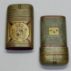 Cajas de Puros: PHILIPPINES ANTIGUA TABAQUERA REALIZADO POR ENCARGO, SIGLO XVIII O XIX, DE FILIPINAS, CON ESCUDO. Lote 45842437